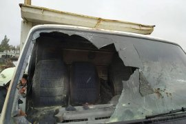 Karaman'da kamyonet yangını
