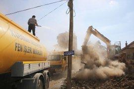 Karaman'da bir ay içerisinde 30 metruk bina yıkıldı