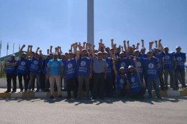 Karaman'da işçiler greve çıktı