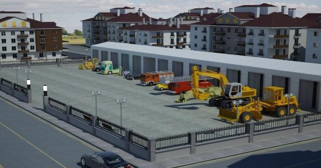 Seydişehir Belediyesinden Makine Parkına Modern Bina