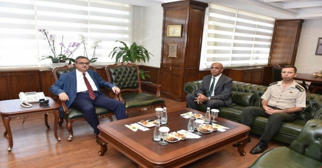 Vali Sudan İl Emniyet Müdürüne İade-İ Ziyaret