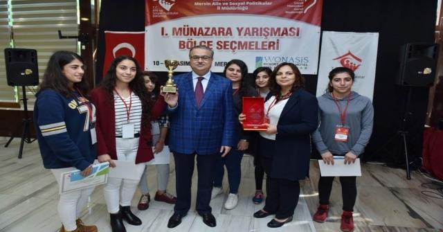 Vali Su, Bölge Birincisi Olan Mersin Çocuk Evleri Sitesi Öğrencilerine Ödüllerini Verdi