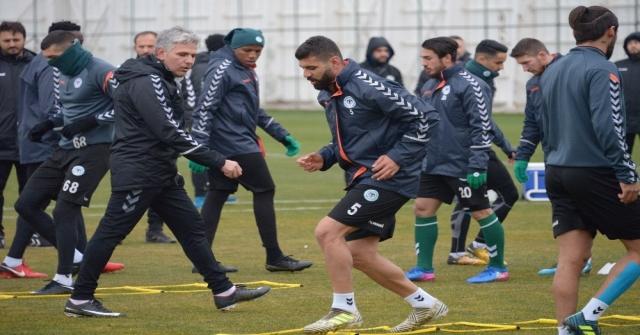 Atiker Konyaspor, Vitoria Guimares Maçının Konyadaki Son Çalışmasını Yaptı