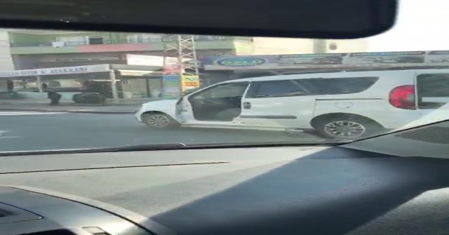 Kapısı Olmayan Araçla Trafiğe Çıktı