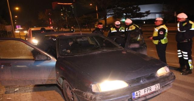 Konyada 26 Alkollü Sürücüye Yaklaşık 70 Bin Lira Ceza