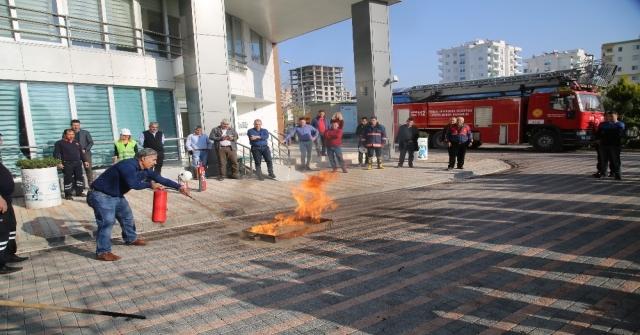 Erdemlide Yangın Tatbikatı