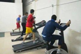 Karamanlı itfaiyeciler her gün spor yapıyor