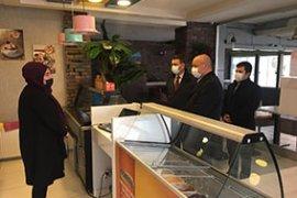 İl Başkanı Kağnıcı, cafe ve Restoranları ziyaret etti