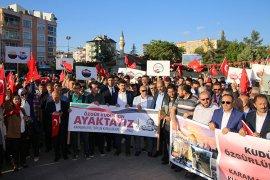 Başkan Çalışkan Vatandaşlarla Birlikte Kudüs İçin Yürüdü