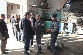 Savaş Kalaycı Sanayi Sitesi esnaflarını ziyaret etti
