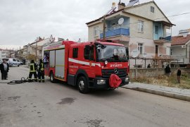 Karaman'da kömürlük yangını korkuttu