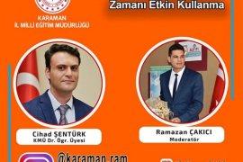 LGS ve YKS'ye Girecek Öğrencilere Karaman RAM'dan Destek