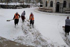 Kar Yağışıyla Birlikte Belediye Ekipleri Sahada