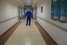 Ermenek Devlet Hastanesi Korona Virüse Karşı Dezenfekte Edildi