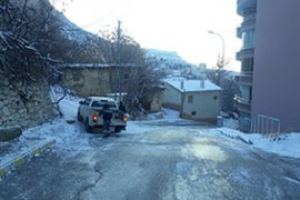 Ermenek Belediyesi Kar Yağışına Anında Müdahale Etti