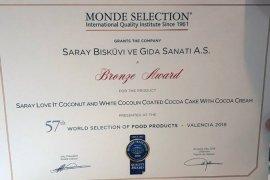 Saray Bisküvi Uluslararası ödül adlı.