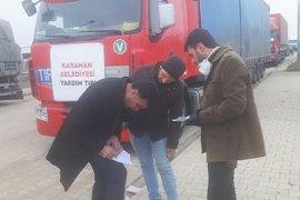 Karaman'dan Yola Çıkan Yardım Tırları Bölgeye Ulaştı