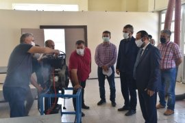 Rektör Akgül, Teknik Bilimler MYO Atölyelerini Gezdi