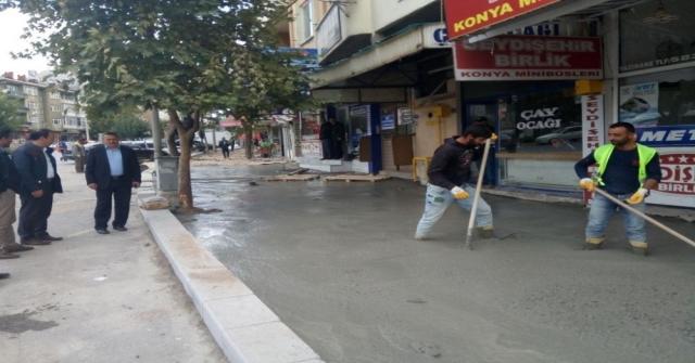 Seydişehir Belediyesinden Kaldırım Ve Tretuvar Çalışması