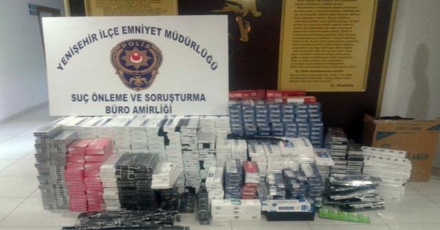 Mersinde 7 Bin 490 Paket Kaçak Sigara Ele Geçirildi