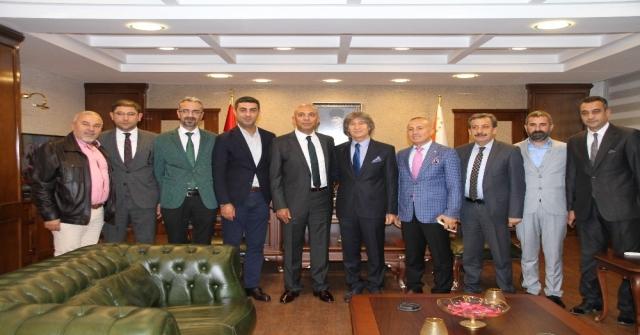 Mersin İdmanyurdu Yönetimi Emniyet Müdürü Şahneyi Ziyaret Etti