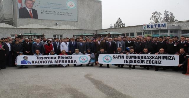 Konyada Taşeron İşçilerin Kadro Sevinci