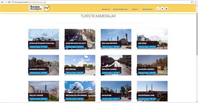 Konya Büyükşehirin Canlı Yayın Kameralarına Büyük İlgi