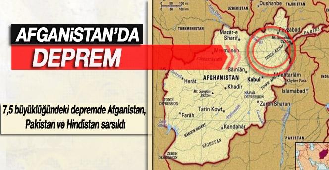 Afganistan'da 7,5 büyüklüğünde deprem! 53 ölü