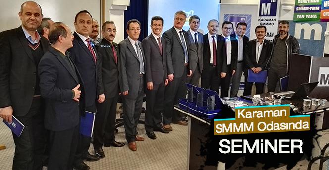 Karaman SMMM Odasnda 1 7 Mart Muhasebe Haftas Etkinliklerinde 2 Fakl Seminer Verildi