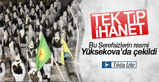 Yüksekova'da Beyaz Kamuflajlı PKK'lılar İlk kez Görüntülendi