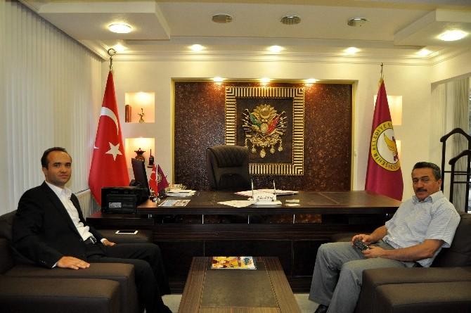 Başkan Tutal'a Kaymakam Özyiğit'ten Ziyaret