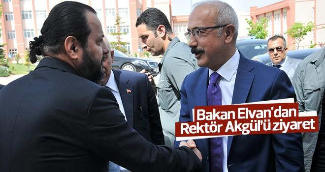 Kalkınma Bakanı Lütfi Elvan'dan Rektör Akgül'e Ziyaret