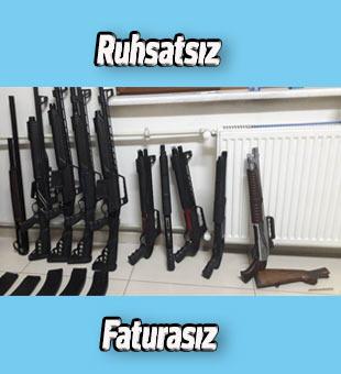 Akşehir'deki ruhsatsız ve faturasız tüfek ele geçirildi