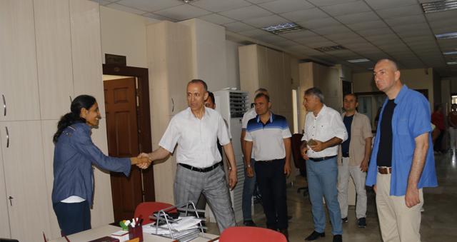 Başkan Aktaş belediye personeli ile vedalaştı