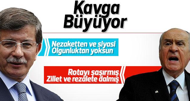 MHP'den Ahmet Davutoğlu'na aynı sertlikte cevap