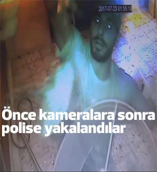 Önce Kameralara Sonra Polise Yakalandılar