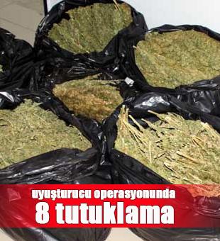 Beyşehir'deki uyuşturucu operasyonunda 8 tutuklama