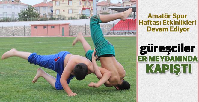Karaman'da Amatör Spor Haftası Güreş Müsabakaları Yapıldı