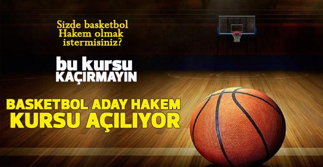 Basketbol Aday Hakem Kursu Açılacak