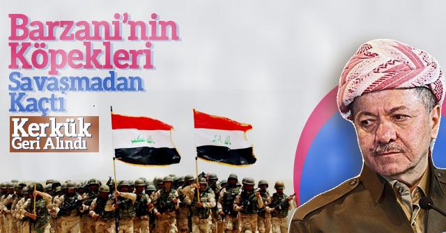 Kerkük Barzani'den alındı