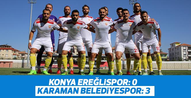 Konya Ereğlispor: 0 - Karaman Belediyespor: 3
