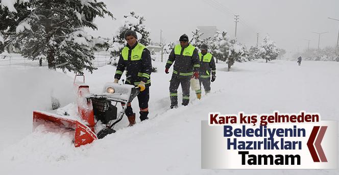 Karaman Belediyesi Kış Hazırlıklarını Tamamladı