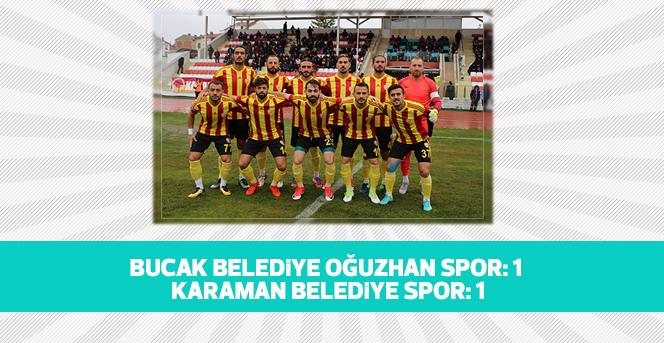 Bucak Belediye Oğuzhan Spor: 1 - Karaman Belediye Spor: 1