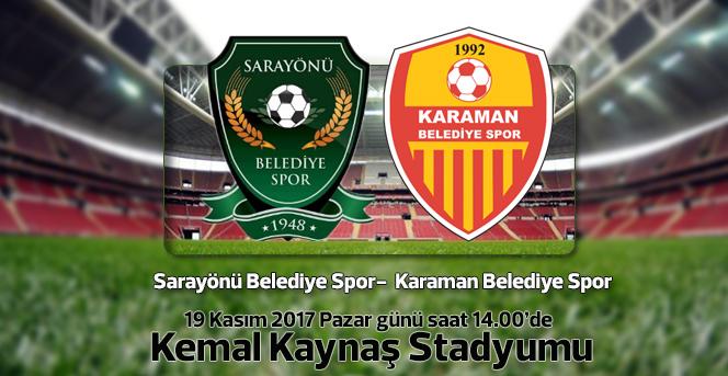 Karaman Belediye Spor,Sarayönü Belediyespor'u Konuk Edecek