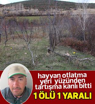 Konya'da hayvan otlatma yeri kavgası: 1 ölü, 1 yaralı