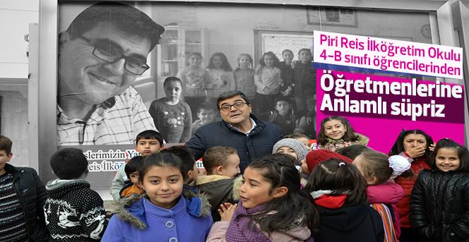 Karaman'da öğretmeni duygulandıran sürpriz