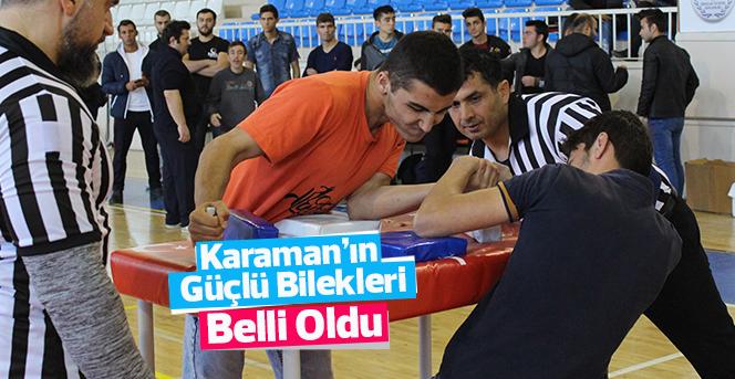 Karaman'da Güçlü Bilekler Belirlendi