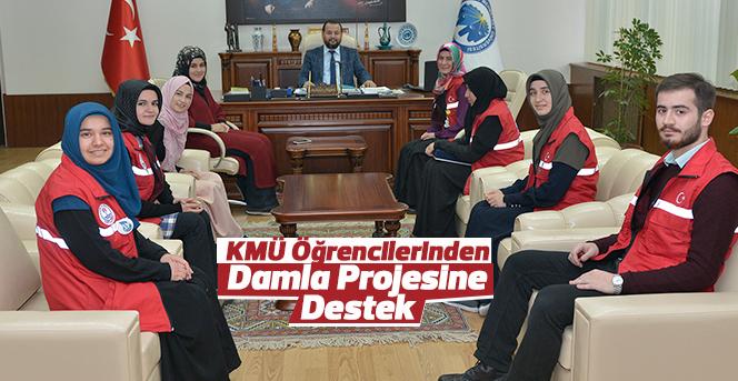 KMÜ Öğrencilerinden Damla Projesine Destek