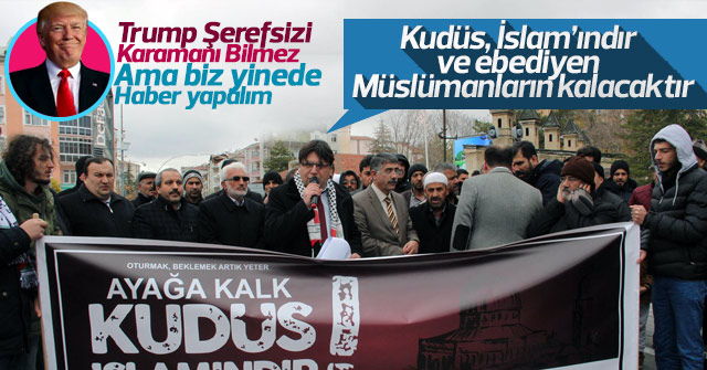 Anadolu Gençlik'ten Trump'a tepki
