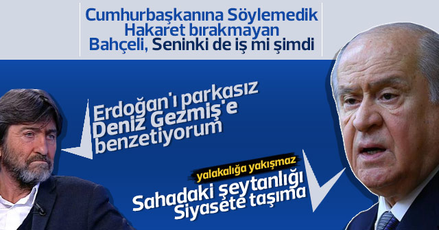 Bahçeli'den Rıdvan Dilmen'e tepki